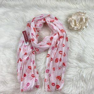Merona NWT Oblong Scarf With Lips Print
